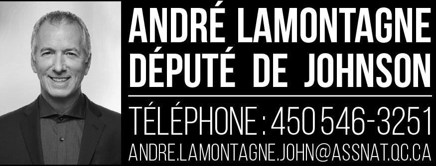 André Lamontagne, député de Johnson